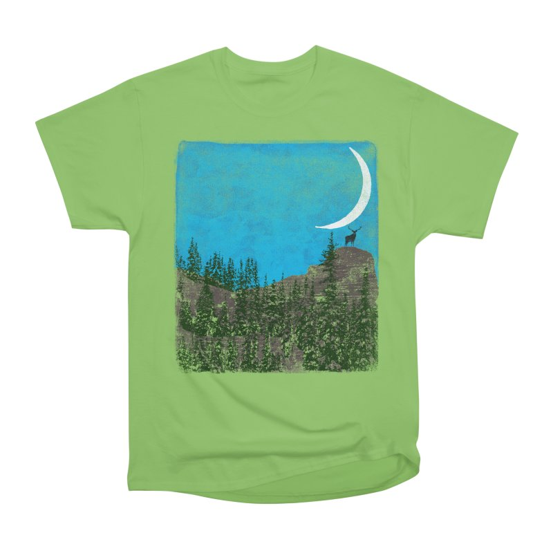 Lonely Deer - Turquoise Night version Women's Heavyweight Unisex T-Shirt by bulo