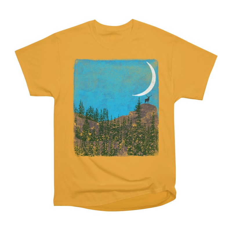 Lonely Deer - Turquoise Night version Men's Heavyweight T-Shirt by bulo