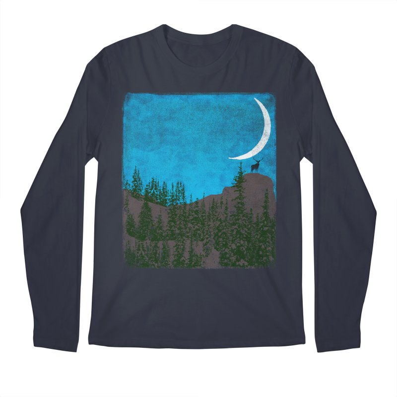 Lonely Deer - Turquoise Night version Men's Regular Longsleeve T-Shirt by bulo