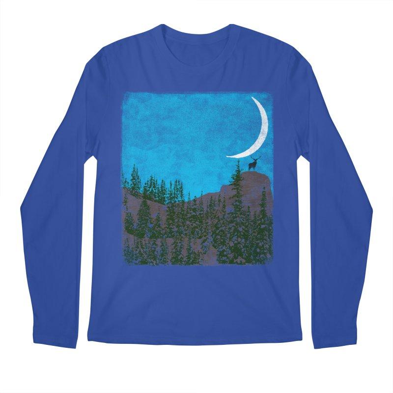 Lonely Deer - Turquoise Night version Men's Regular Longsleeve T-Shirt by bulo
