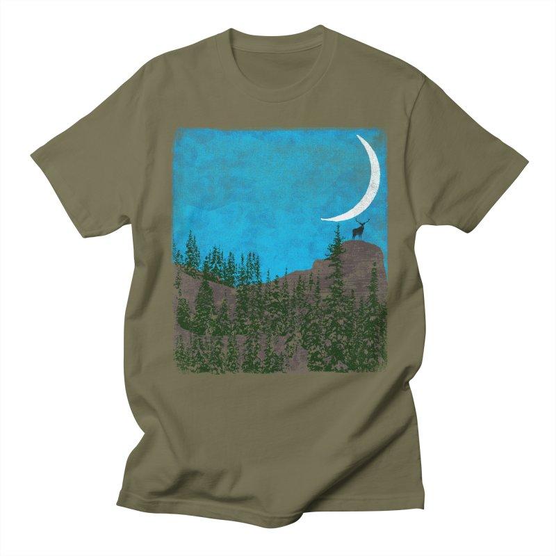 Lonely Deer - Turquoise Night version Men's Regular T-Shirt by bulo