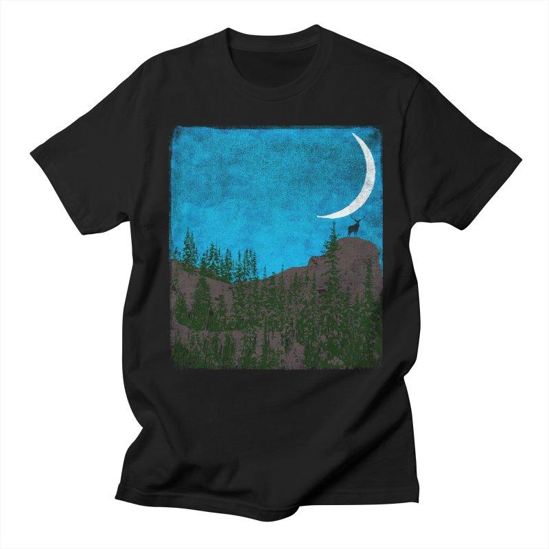 Lonely Deer - Turquoise Night version Women's Regular Unisex T-Shirt by bulo