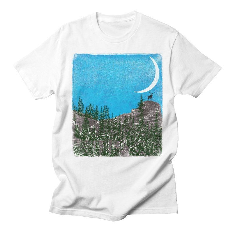 Lonely Deer - Turquoise Night version Men's Regular T-Shirt by bulo