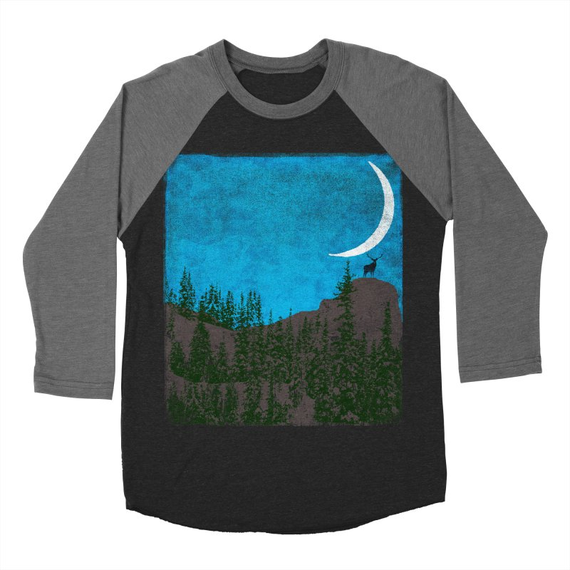 Lonely Deer - Turquoise Night version Women's Baseball Triblend Longsleeve T-Shirt by bulo