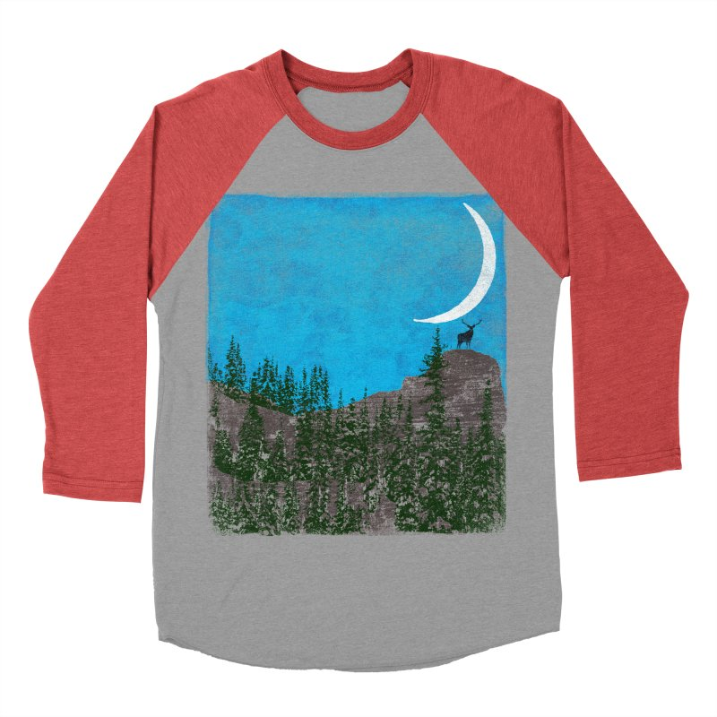 Lonely Deer - Turquoise Night version Men's Baseball Triblend Longsleeve T-Shirt by bulo