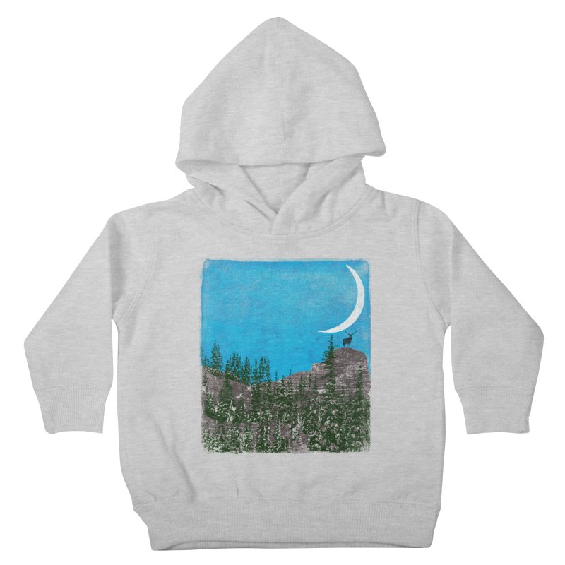 Lonely Deer - Turquoise Night version Kids Toddler Pullover Hoody by bulo
