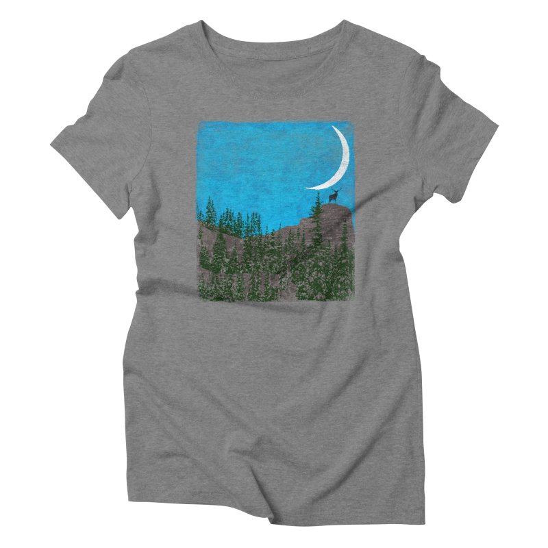 Lonely Deer - Turquoise Night version Women's Triblend T-Shirt by bulo