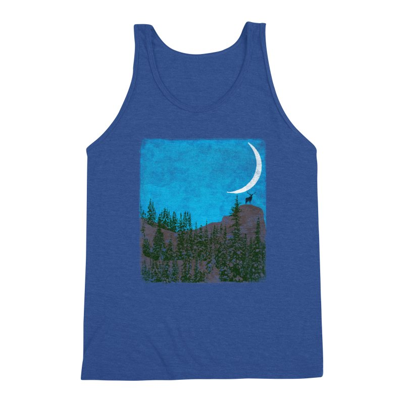 Lonely Deer - Turquoise Night version Men's Tank by bulo