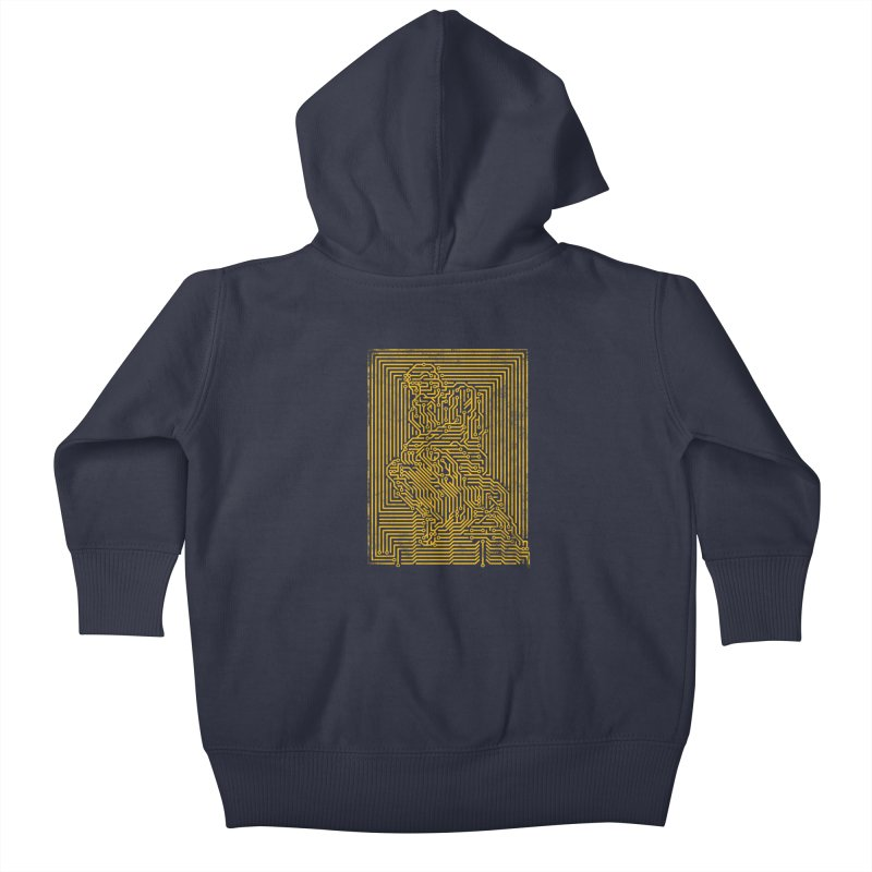 Artificial Intelligence V.2 Kids Baby Zip-Up Hoody by bulo