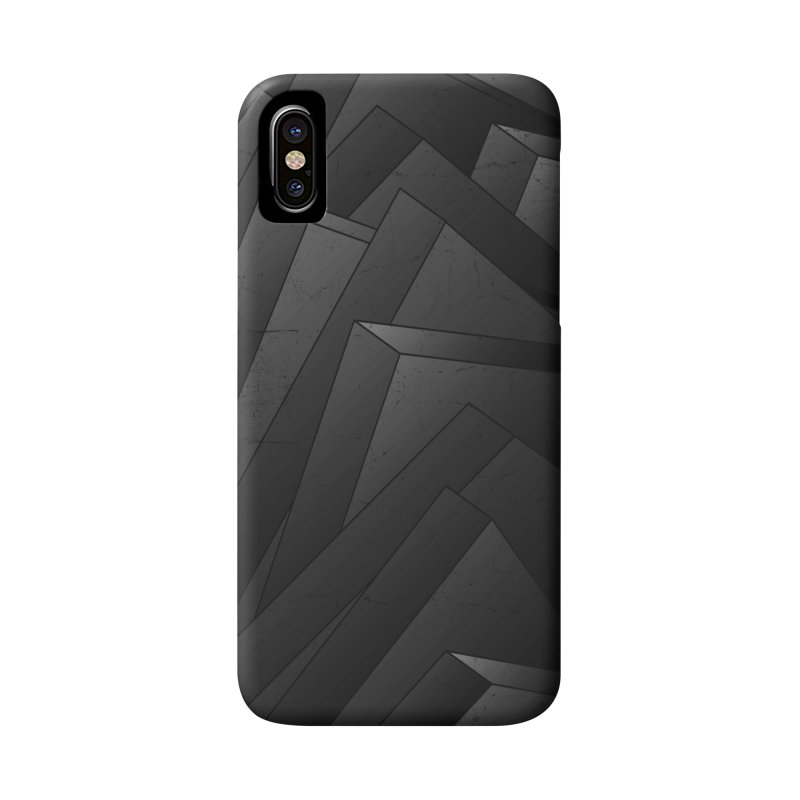 Isometric Waves / rework / bw version Accessories Phone Case by bulo