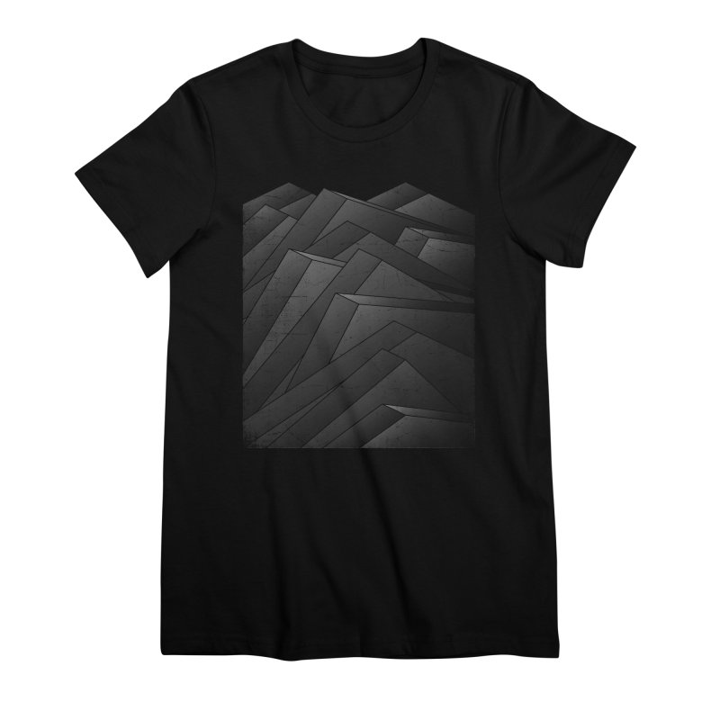 Isometric Waves / rework / bw version Women's Premium T-Shirt by bulo