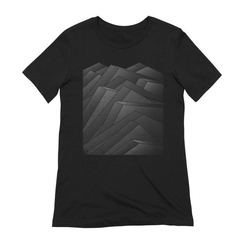 Isometric Waves / rework / bw version Women's Extra Soft T-Shirt by bulo
