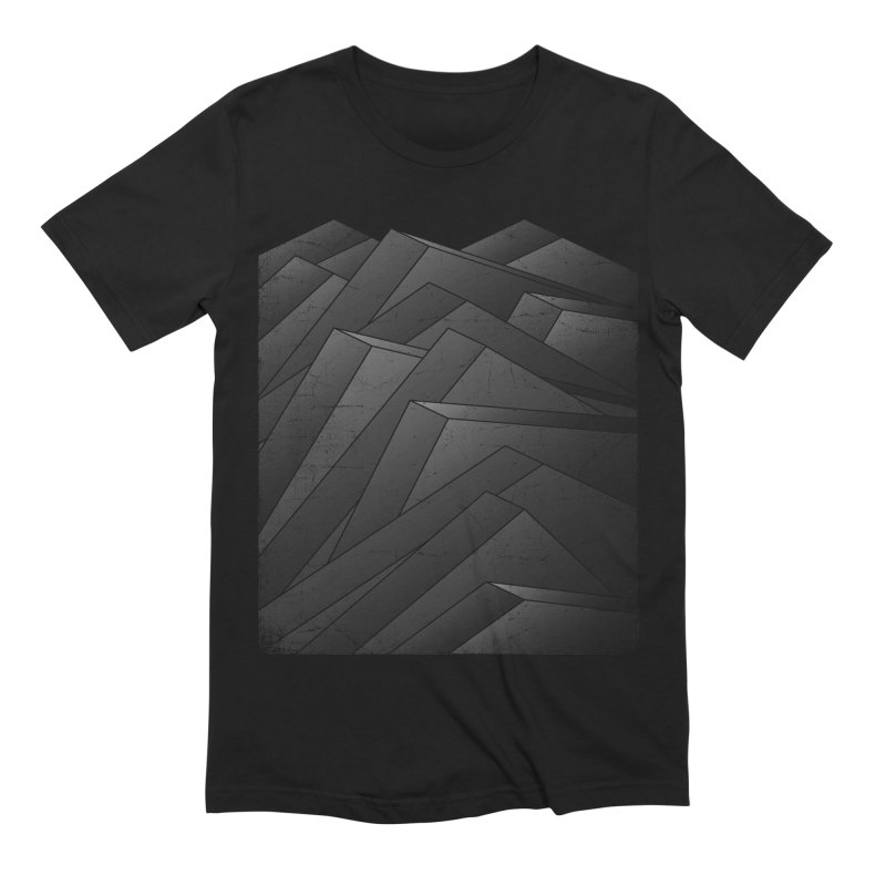 Isometric Waves / rework / bw version Men's Extra Soft T-Shirt by bulo