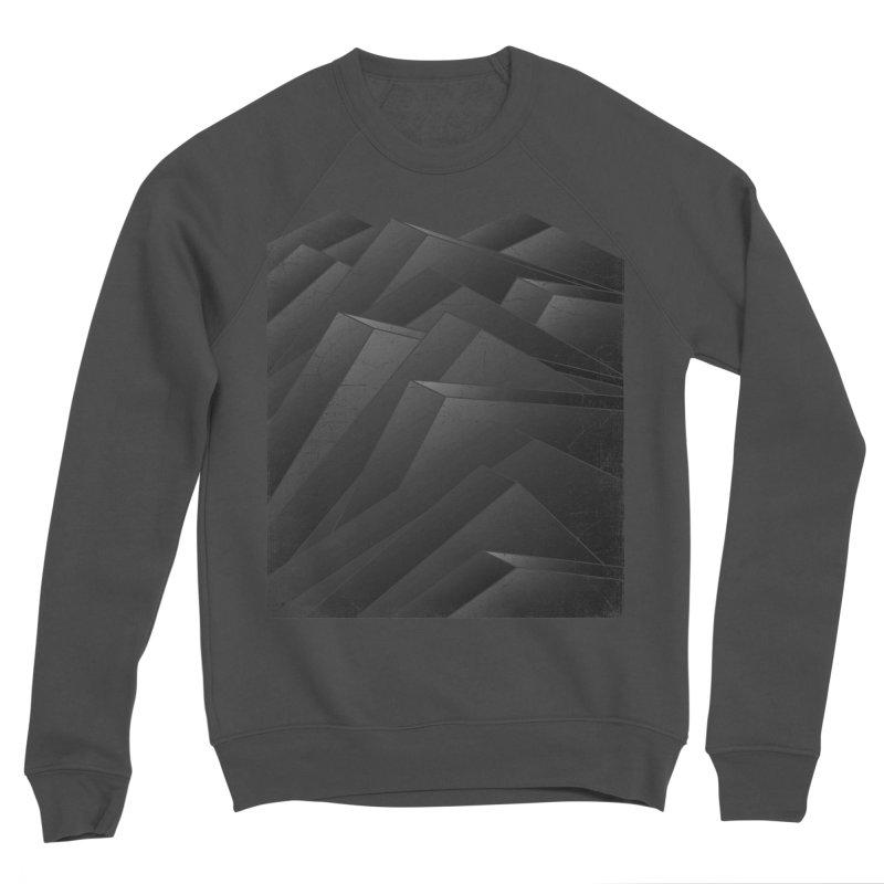 Isometric Waves / rework / bw version Men's Sponge Fleece Sweatshirt by bulo