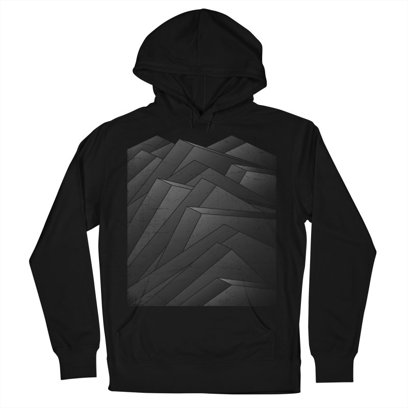 Isometric Waves / rework / bw version Women's French Terry Pullover Hoody by bulo