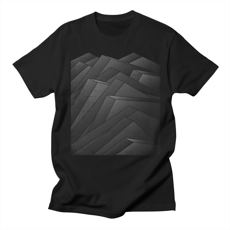 Isometric Waves / rework / bw version Men's Regular T-Shirt by bulo