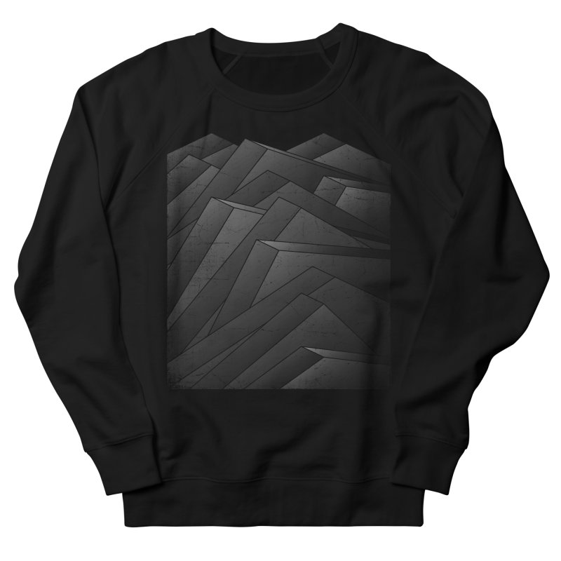 Isometric Waves / rework / bw version Men's French Terry Sweatshirt by bulo
