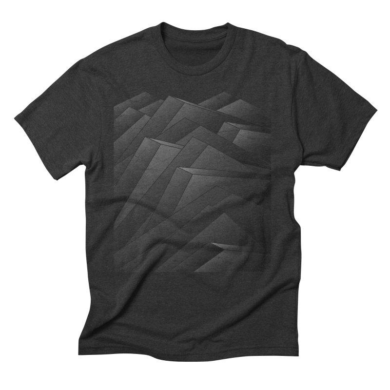 Isometric Waves / rework / bw version Men's Triblend T-Shirt by bulo