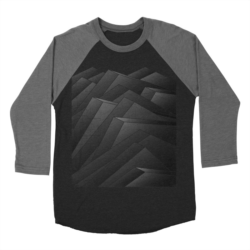 Isometric Waves / rework / bw version Women's Baseball Triblend Longsleeve T-Shirt by bulo