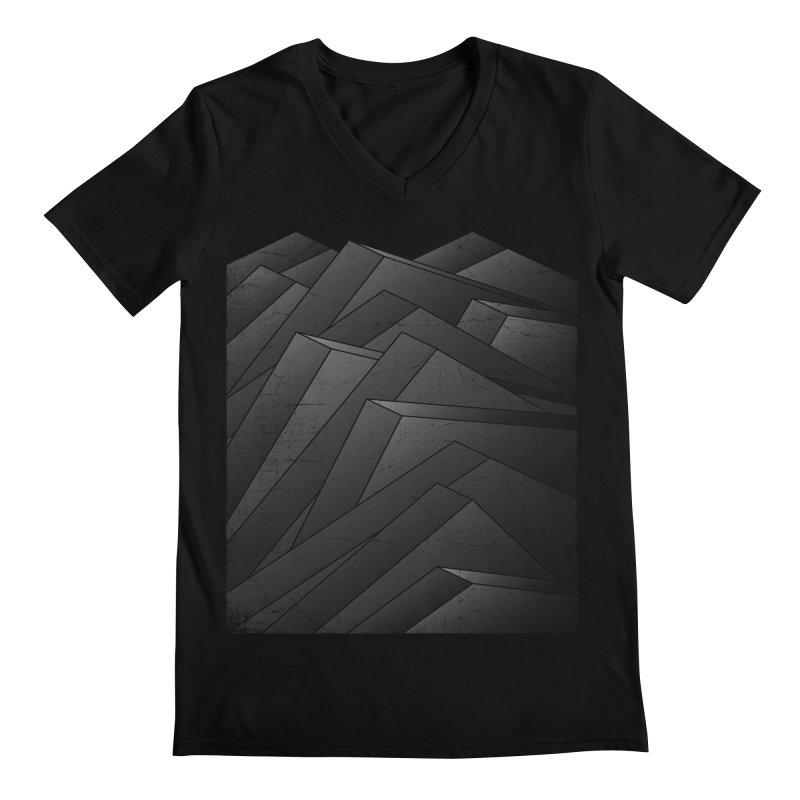 Isometric Waves / rework / bw version Men's Regular V-Neck by bulo