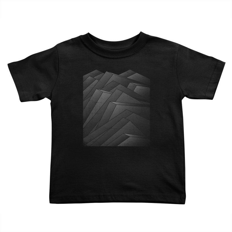 Isometric Waves / rework / bw version Kids Toddler T-Shirt by bulo