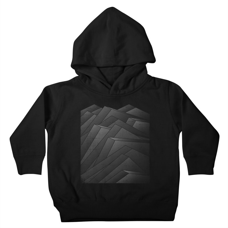 Isometric Waves / rework / bw version Kids Toddler Pullover Hoody by bulo