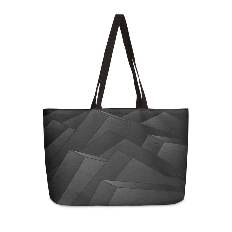 Isometric Waves / rework / bw version Accessories Weekender Bag Bag by bulo