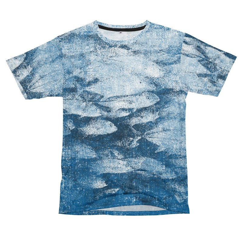 Undersea (rework) Men's T-Shirt Cut & Sew by bulo