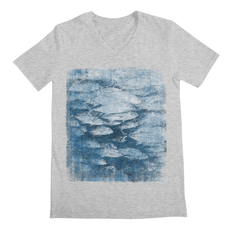 Undersea (rework) Men's Regular V-Neck by bulo