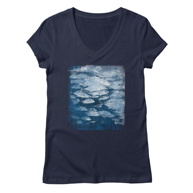 Undersea (rework) Women's Regular V-Neck by bulo