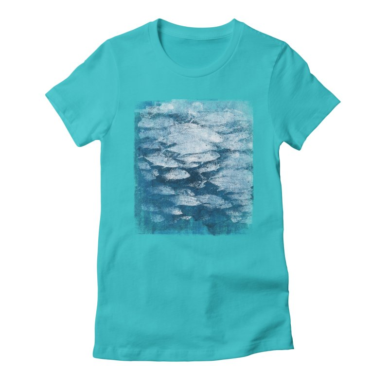 Undersea (rework) Women's Fitted T-Shirt by bulo
