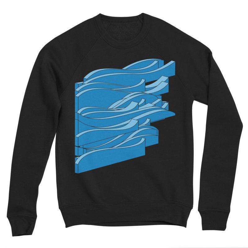 Just Waves Men's Sponge Fleece Sweatshirt by bulo
