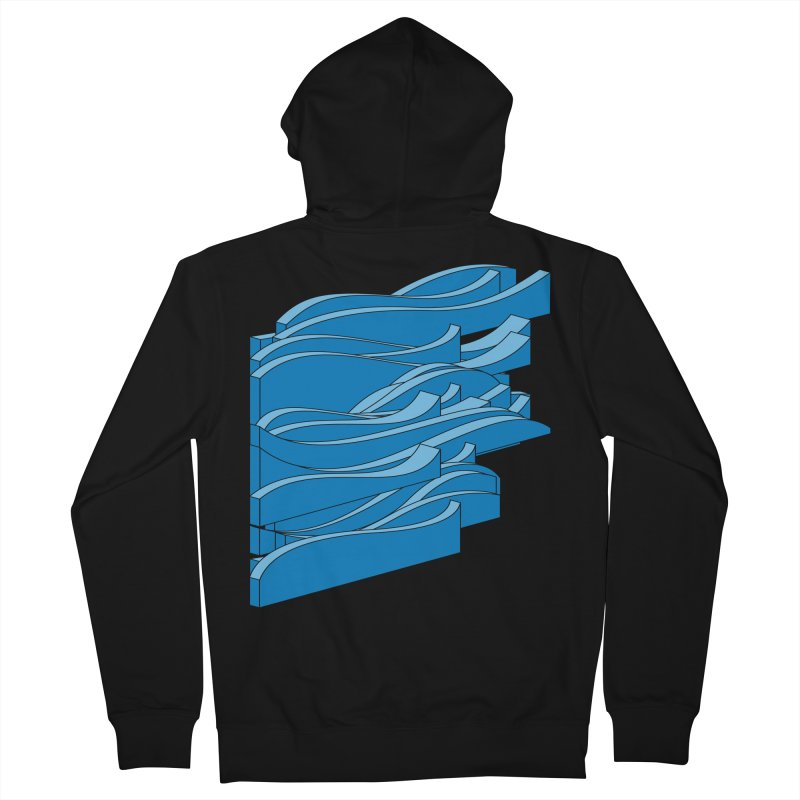 Just Waves Men's French Terry Zip-Up Hoody by bulo