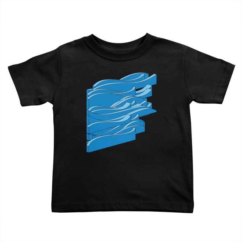 Just Waves Kids Toddler T-Shirt by bulo