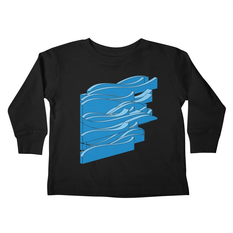 Just Waves Kids Toddler Longsleeve T-Shirt by bulo