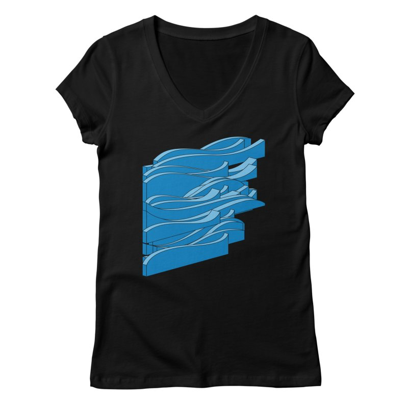 Just Waves Women's Regular V-Neck by bulo