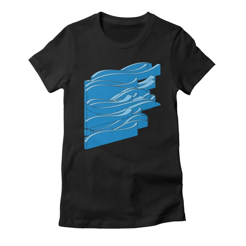 Just Waves Women's Fitted T-Shirt by bulo