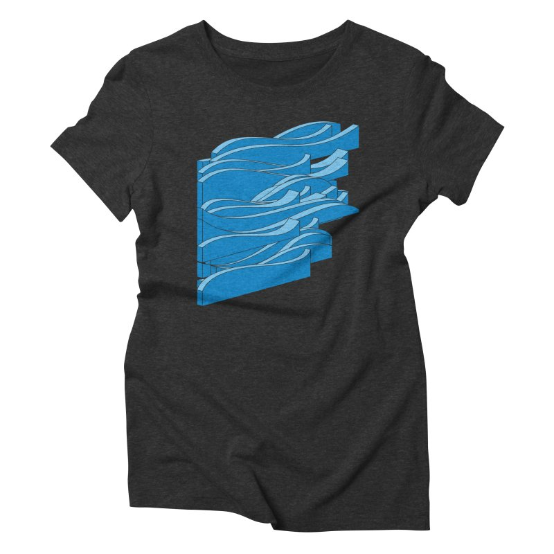 Just Waves Women's Triblend T-Shirt by bulo