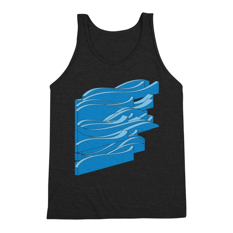 Just Waves Men's Triblend Tank by bulo