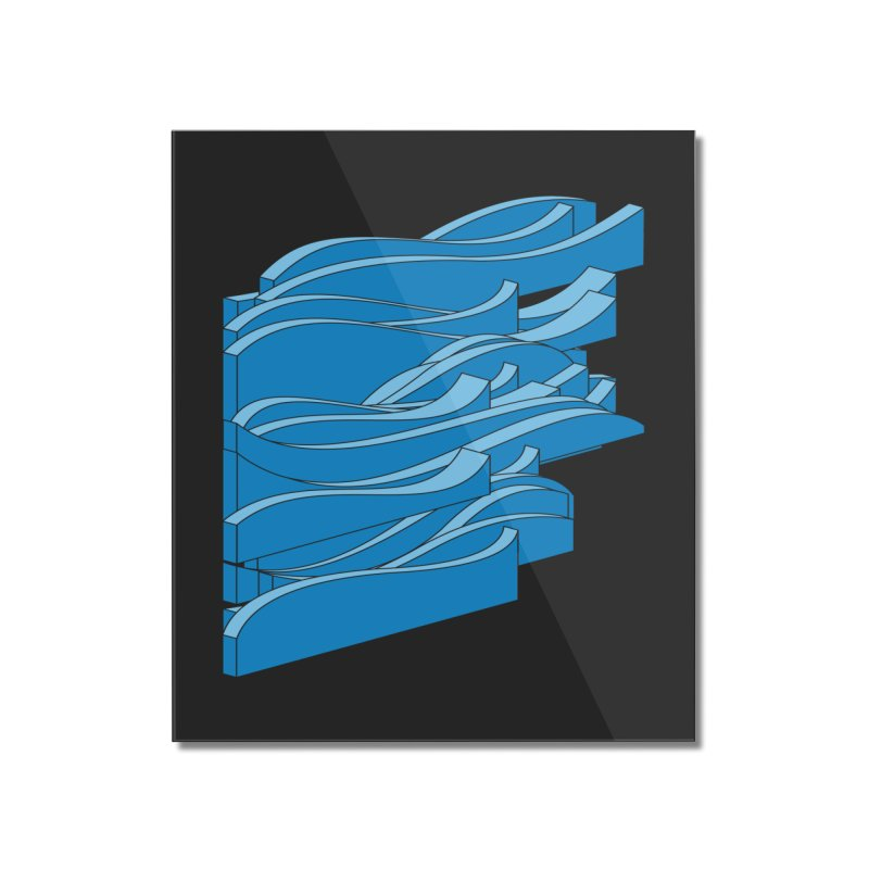 Just Waves Home Mounted Acrylic Print by bulo