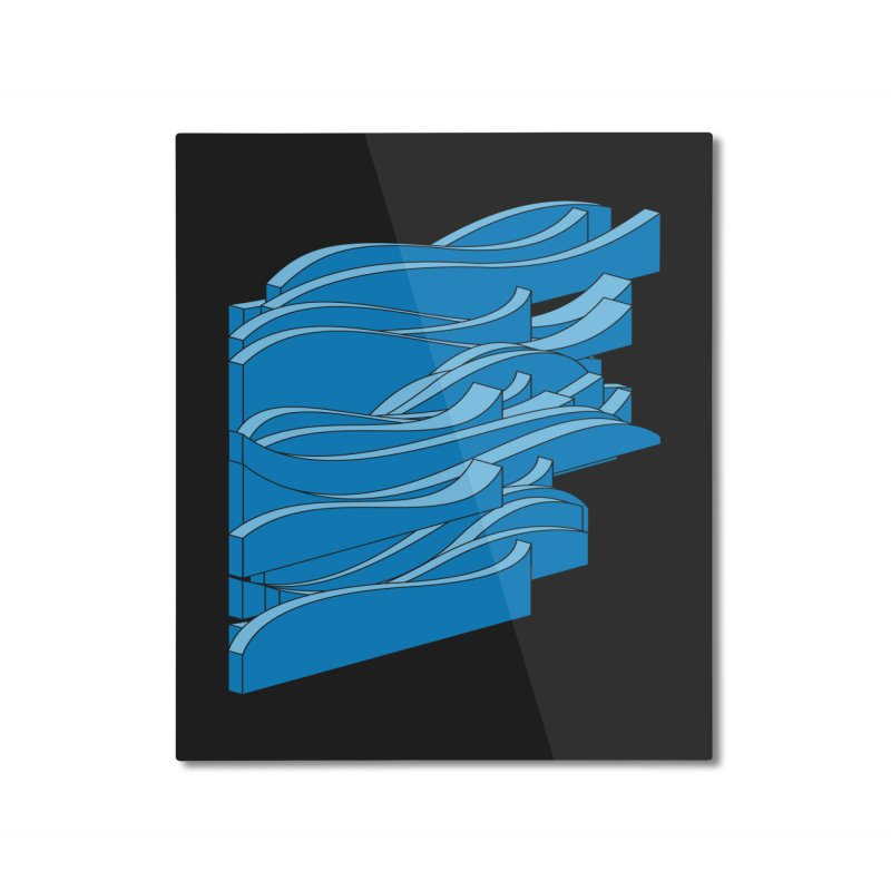 Just Waves Home Mounted Aluminum Print by bulo