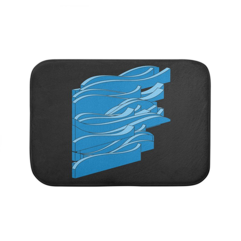 Just Waves Home Bath Mat by bulo