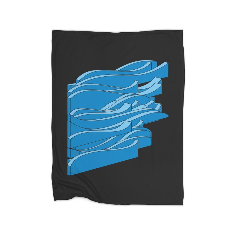 Just Waves Home Fleece Blanket Blanket by bulo