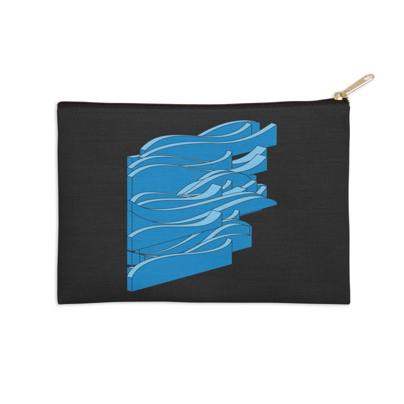 Just Waves Accessories Zip Pouch by bulo