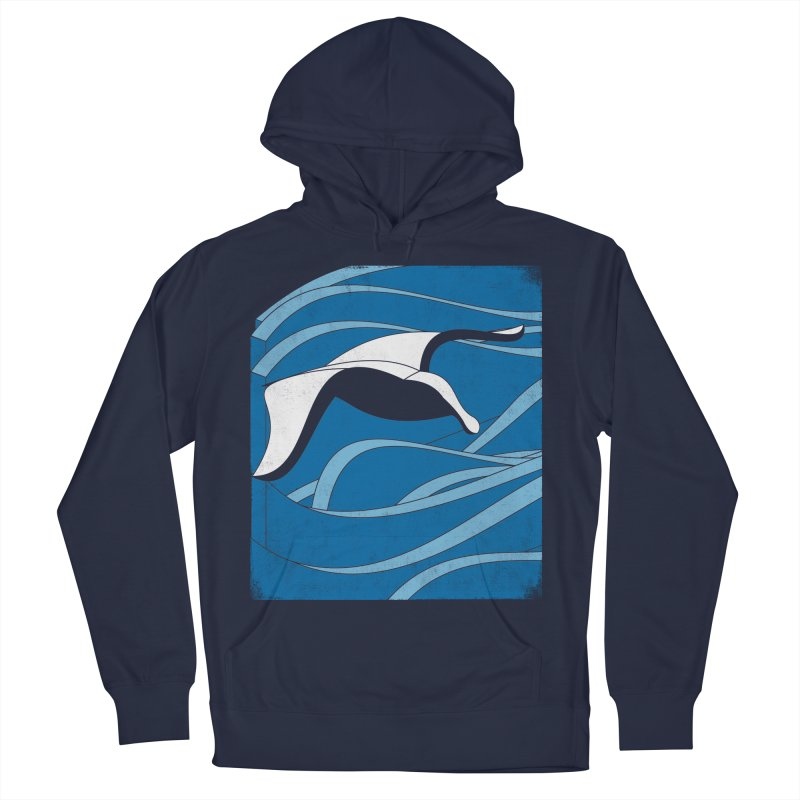 On The Waves Men's French Terry Pullover Hoody by bulo