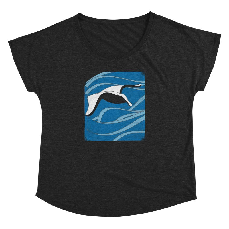 On The Waves Women's Dolman Scoop Neck by bulo