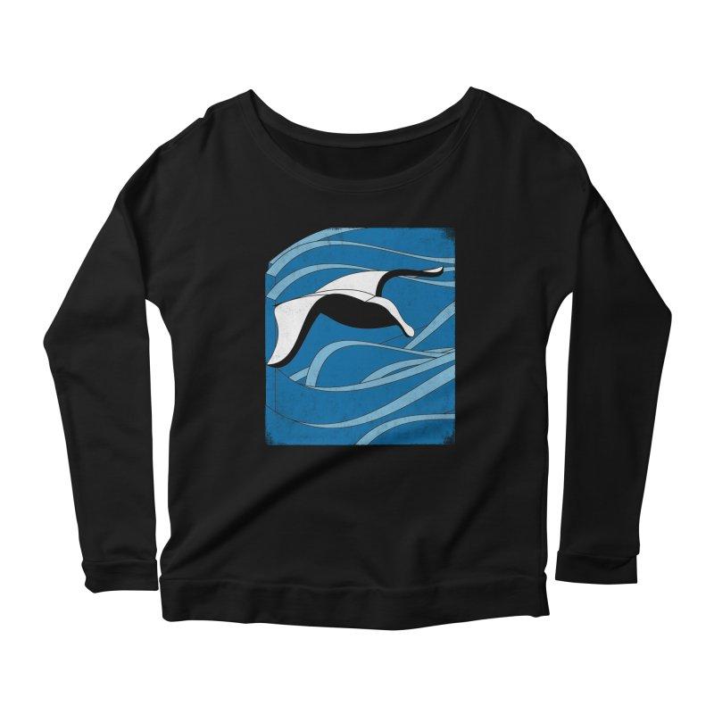 On The Waves Women's Scoop Neck Longsleeve T-Shirt by bulo
