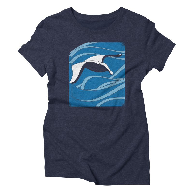 On The Waves Women's Triblend T-Shirt by bulo