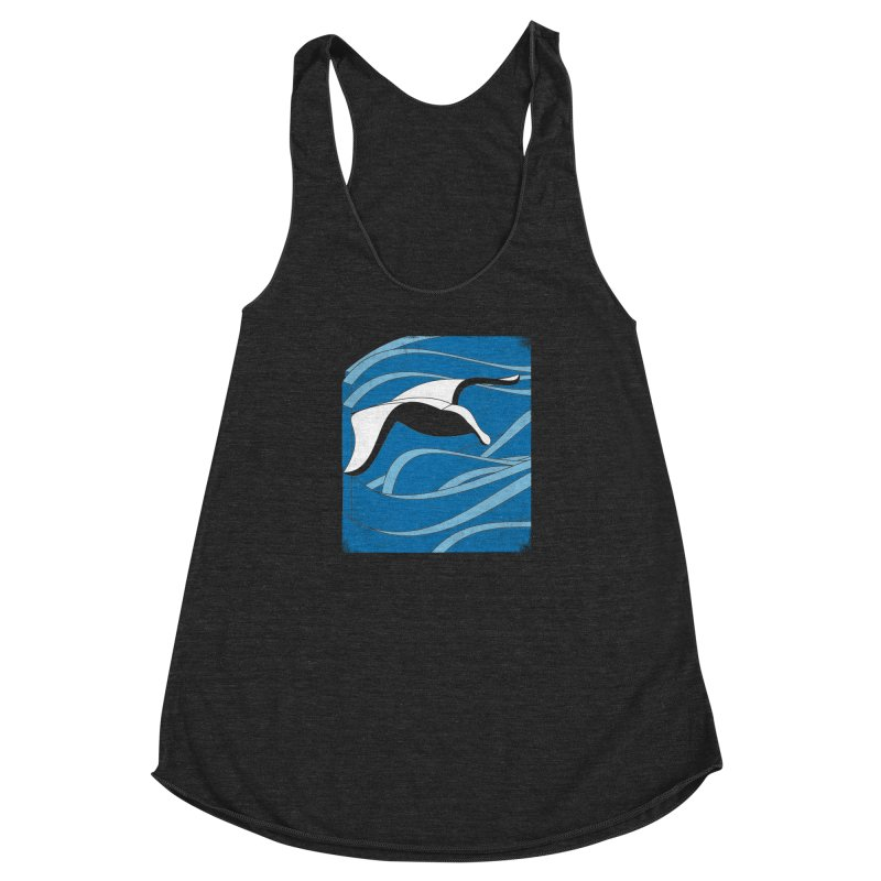 On The Waves Women's Racerback Triblend Tank by bulo