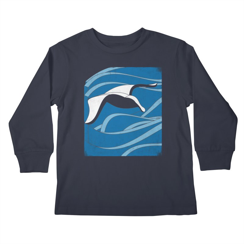 On The Waves Kids Longsleeve T-Shirt by bulo